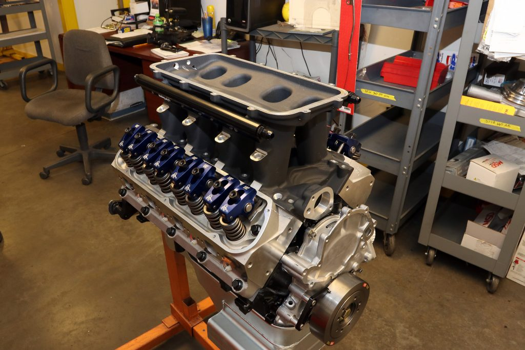 Ford stroker engine with Holley Hi-Ram intake and Scorpion rockers
