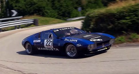 Check Out this DeTomaso Mangusta Ripping on this Hillclimb