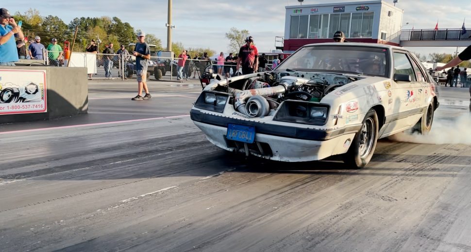 We Go No Prep Drag Racing with a 1,200 Horsepower Turbo LS Build [The Famous Beer Money Mustang!]
